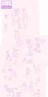 buncha critters n stuff [sketchdump] by VCR-WOLFE