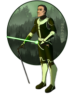 The jedi with the cane by El-Niphrendil