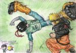 Rock Lee Vs. Naruto by freakdearts