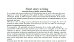 Short story writing by Thelemiic
