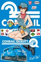 Conrail Pin-Up by yankeedog