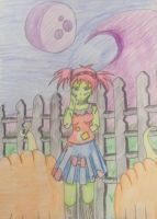 finished zombie girl by ninjalove134