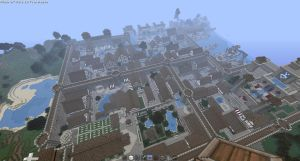 Top View of the Town on Creati by oddworld90