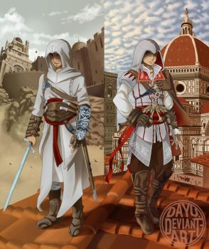 Altair and Ezio by Dayu