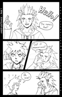 Axel's Entrance Page 1 by Silver-Solace