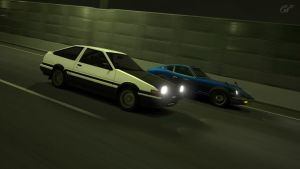 GT5 - Initial D vs Midnight by WingGT5
