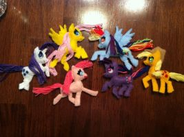 My Little Pony Felt Magnets by xRoxyryokox