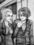 Squall and Quistis by Savae