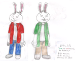 Jim and Tim Possible as Rabbits by WillM3luvTrains