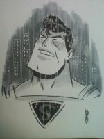 Superman in the rain by ChrisFaccone