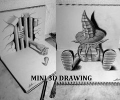 MINI 3D DRAWING (10 available) by NAGAIHIDEYUKI