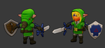Low poly Link 3D model. by Traggey