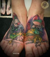 2 ses cover up pinky brain by 2Face-Tattoo