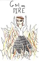 Girl on Fire by Tonks-Lupin