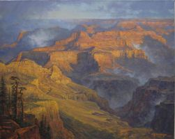 William Scott Jennings - After a Canyon Rain by OilPaintersofAmerica
