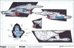 Star Trek Axanar U.S.S. Ares Concept Sketches by stourangeau