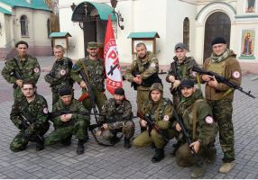 Russian National Unity fighters by ShitAllOverHumanity
