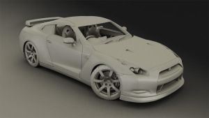 Clay Render GT-R 35 by megatama