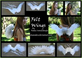 Felt Wings - All white 2 ft by Kamakru