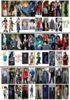 My Cosplays 2008-2015 by evilfuzzle2
