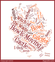 Howl's Moving Castle Tagxedo by HollehLeaf