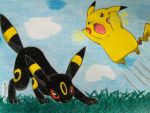 Pikachu and Umbreon by Ash-Misty-Pikachu