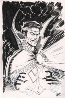 Dr.Strange backer board con sketch by MichaelDooney