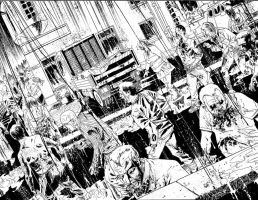 28 Days Later Issue 6 spread by DeclanShalvey