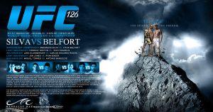 My UFC 126 poster design by olieng