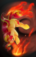 Flaming Sunset by Dogi-Crimson