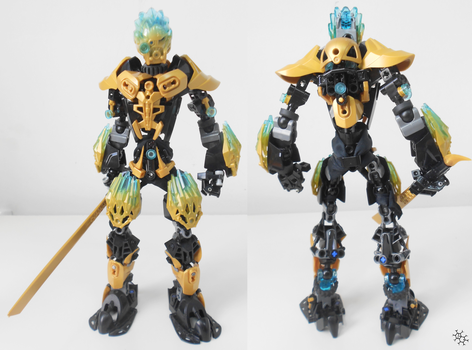 MOC. Toa Hagakin (outdated version) by Darkraimaster99