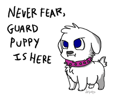 calm down because guard puppy by derpato