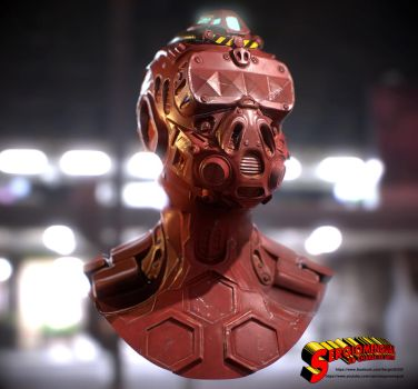 Cyborg Head Final Textured Version by SergioMengual2012
