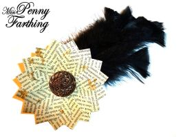 Steampunk Paper Fascinator by MissPennyFarthing