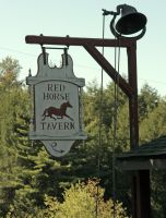 Red Horse Tavern sign by mirrorimagestock