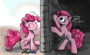 Pinkie's Wall by FlutterThrash