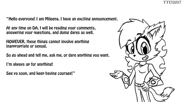 Mileena's Reading Your Comments Announcement by SpongeDragon15