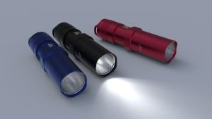Fenix PD20 LED Flashlight C4D by sicklizard
