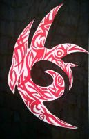 Shadow the Hedgehog Symbol (Tribal Style) by AutumnalEssence