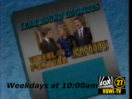 Wheel-Jeopardy Promo for KQWL-TV (1987-1991) by revinchristianhatol