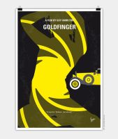 No277-007 My Goldfinger minimal movie poster by Chungkong