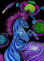 Cosmic Unicorn by chezarawolf