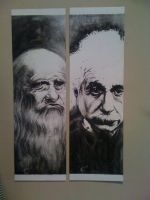 Da Vinci and Einstein by CaseyAtwell