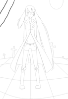 Black Rock Shooter - LineArt by Annie-Aya