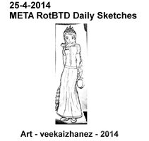 META RotBTD 2014 Daily Sketch 4-25 by veekaizhanez