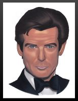 Pierce Brosnan by DixieKong86