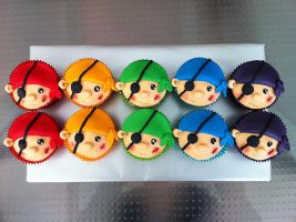 Pirate cupcakes by FireKylling