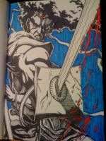 Afro Blood Blade by inkone37