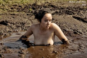 Tina Sweet chest deep in Quicksand Sep14 8902 by MichaelLeachPhoto