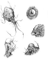 monster sketches by Bawarner